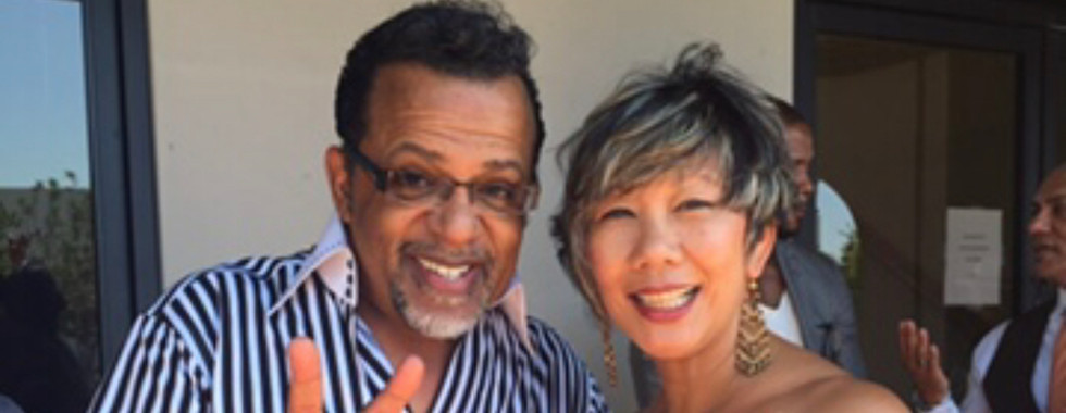 Bishop Carlton Pearson on the air with D