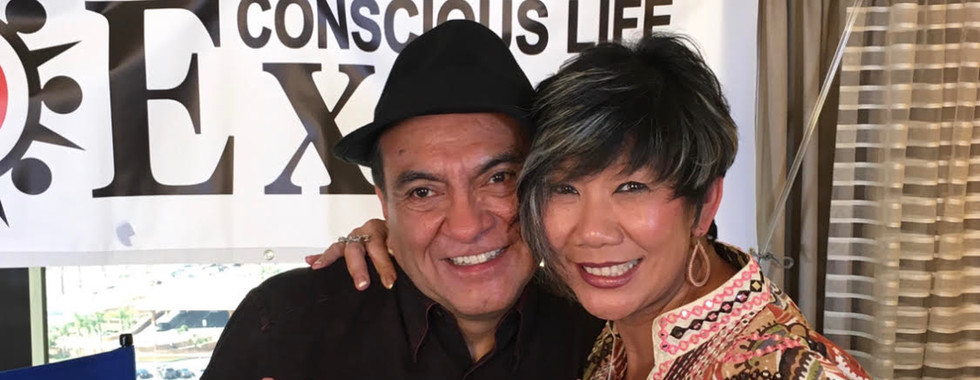 Don Miguel Ruiz hugs Dr. Marissa after i