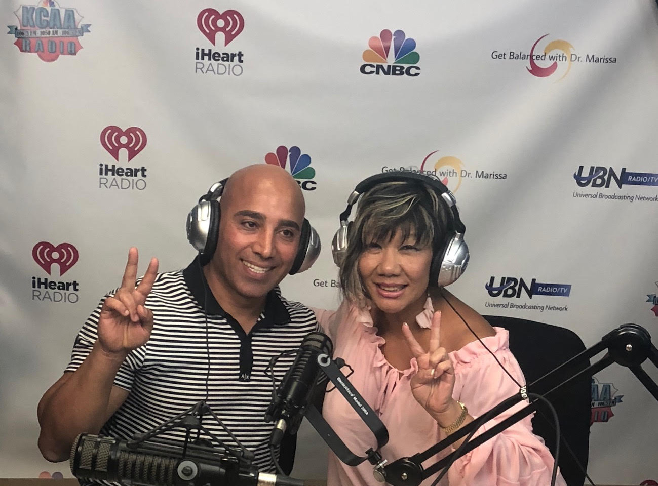 Riadh Hamdi in studio with Dr. Marissa