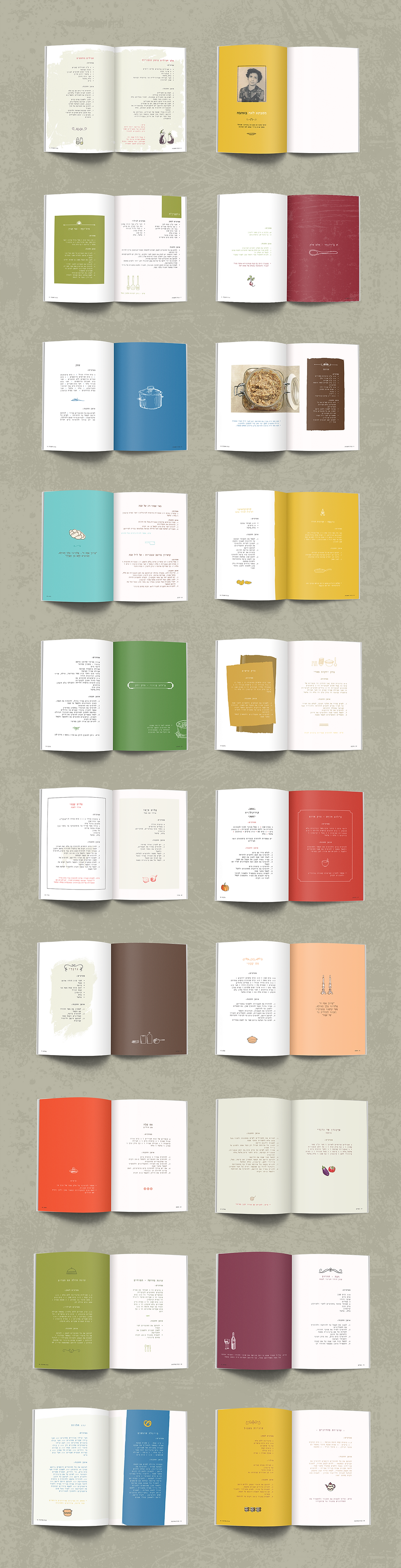 עיצוב ספר מתכונים