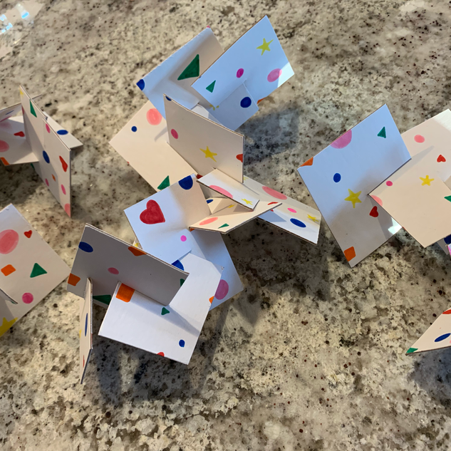 Slotted shape sculptures (May 14, 2020 a