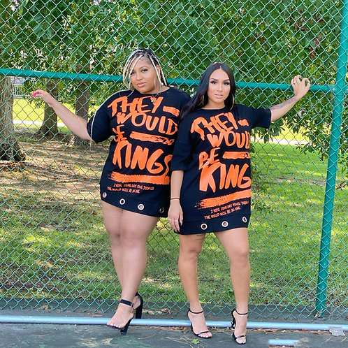 King of Kings Dress - Black