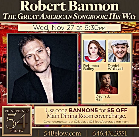 Robert Bannon and Friends at 54 Below