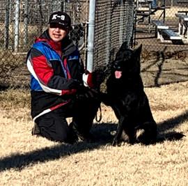 IGP/Schutzhund Trainer, Joseph Lin, & Armus Vom Boomerbucht IP01, IGP2 (Earned at Regionals), IGP3