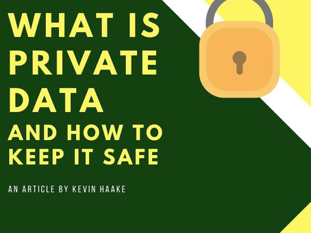 What is Private Data and how is it stored?