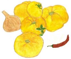 Coulis jaune piment