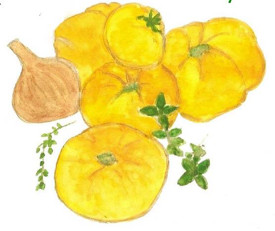 Coulis jaune thym & origan