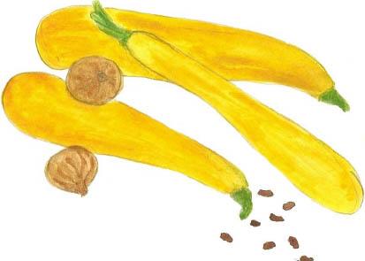 Chutney courgettes jaunes
