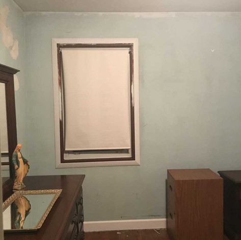 Bedroom wall after contamination was removed