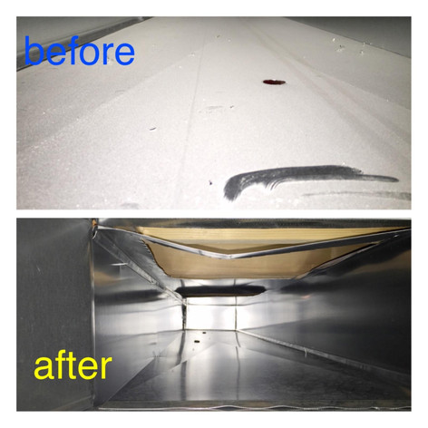 Ducts before and after