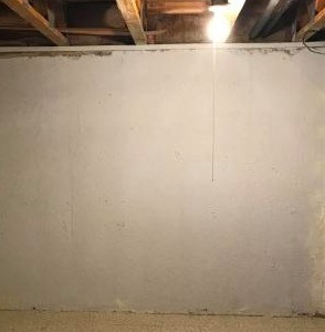 Basement poured wall after