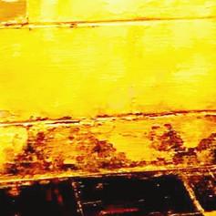 Contaminated basement block wall before