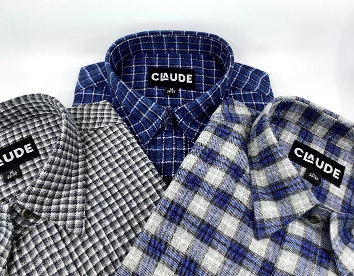 set van drie hemden Kardam diverse kleuren