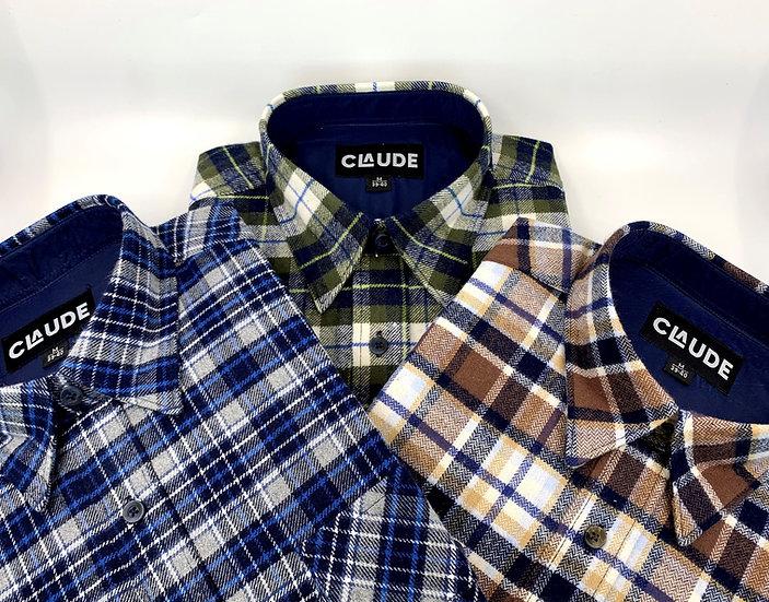 set van drie hemden Collobello diverse kleuren