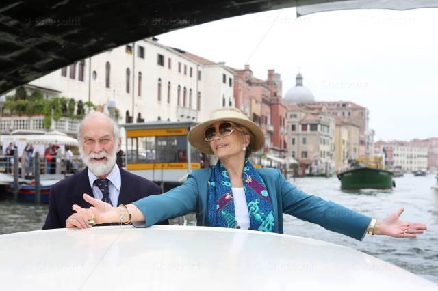 Принц Майкл Кентский в Венеции.