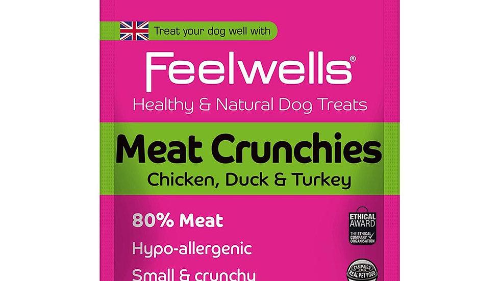 Feelwells Meat Crunchies 80% Chicken Duck & Turkey