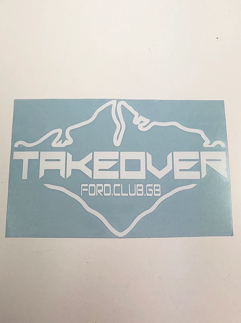 Large IOW Takeover decal 58cm x 30cm