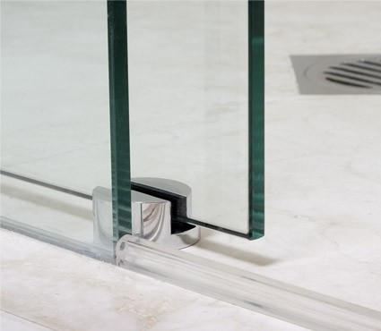 Hydroslide 60 Quot 180 Degree Sliding Door Kit Chrome Glass