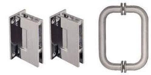 Geneva Shower Door Pull Handle and Hinge Set - BN
