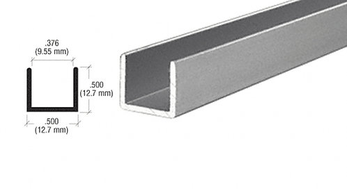 "3.66M Length - 3/8"" (10mm) Aluminum U-Channel"