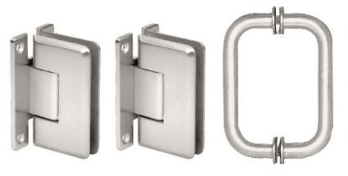 Cologne Shower Door Pull Handle and Hinge Set - CH