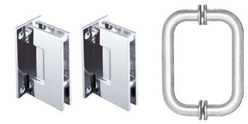 Geneva Shower Door Pull Handle and Hinge Set - CH