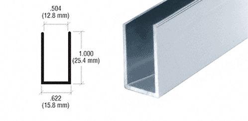 """3.66M Length - 1/2"""" (12mm) Aluminum U-Channel"""