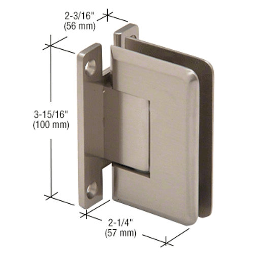 Cologne Series Wall Mount Full Back Plate Hinge