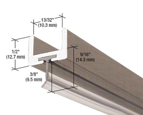 Frameless Shower Door Aluminum U-Channel With Wipe
