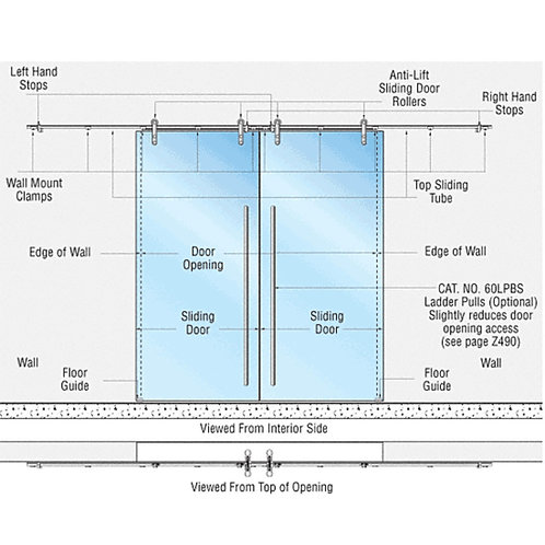 Laguna Double Sliding Glass Door System. LSWM6BS