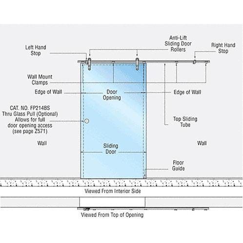 Laguna Single Sliding Glass Door System. LSWM5BS