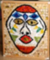 mosaic african mask