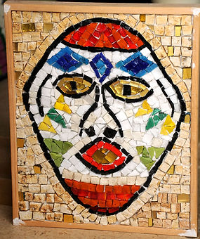 mosaic african mask