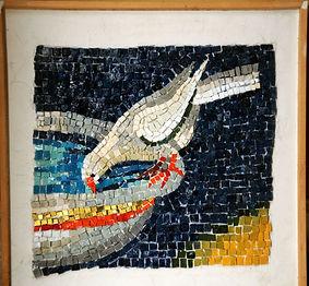 mosaic ravenna bird drinking birdbath
