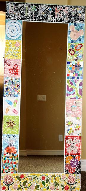 mosaic full length mirror teen or kid bedroom