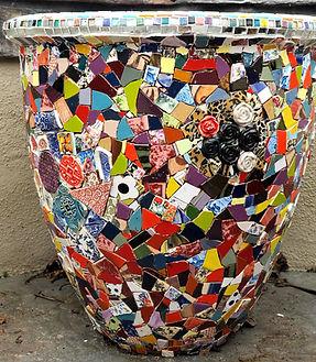 mosaic flower pot planter large