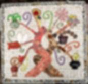 mosaic tree of life mural