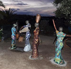 public art mosaic four matriarchs san diego jewish academy