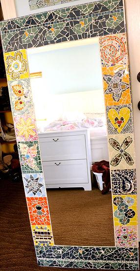 mosaic full length mirror teen bedroom