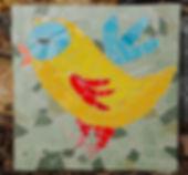 mosaic naive bird stepping stone