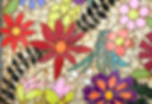 mosaic flower floral stepping stone