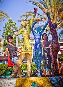 mosaic sculptures helen segal public torrey hills san diego