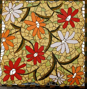 mosaic flower daisy stepping stone