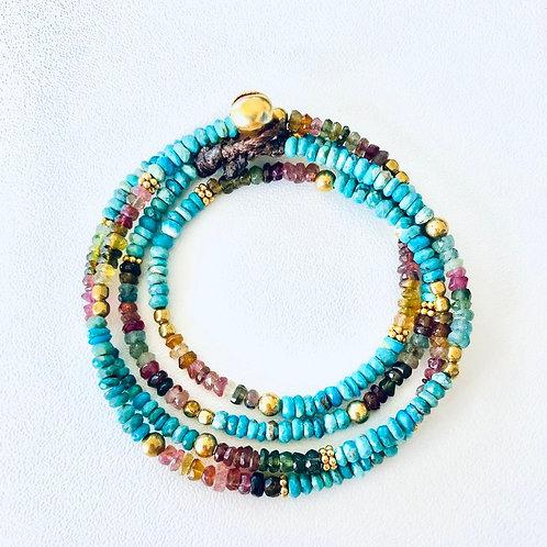 Collier/Bracelet Elsa Turquoise