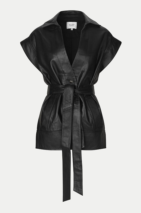 Indie Leather Waistcoat