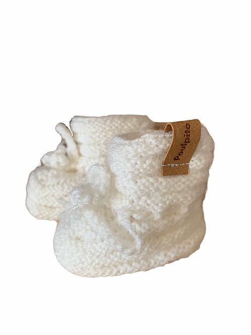 Chaussons blancs • De la Abuela •