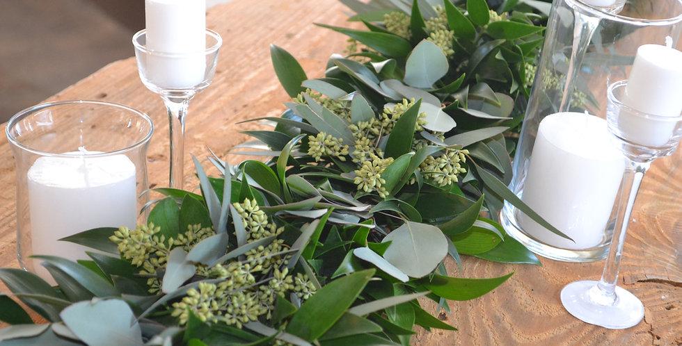 Nagi with Silver Dollar & Seeded Eucalyptus