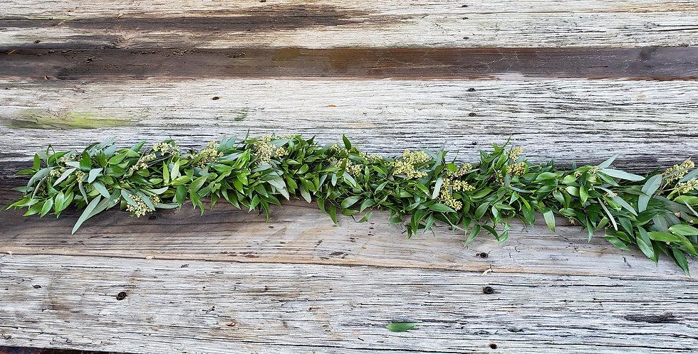 Italian Ruscus with Seeded Eucalyptus