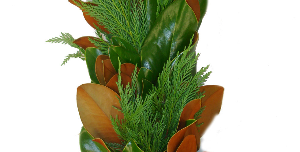 Magnolia & Leyland Cypress Garland