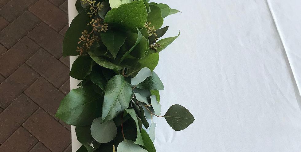Salal with Silver Dollar & Seeded Eucalyptus